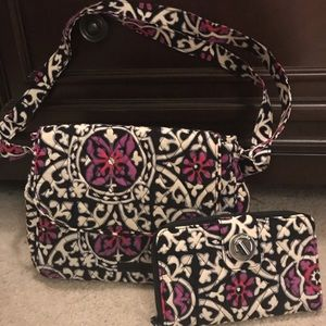 NWOT Vera Bradley purse and matching wallet